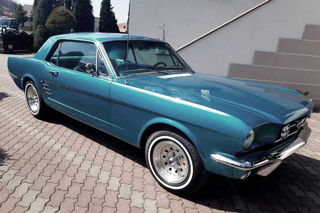 Mustang do ślubu kraków zakopane wadowice sucha beskidzka małopolska Mustang na ślub wynajem samochód do ślubu